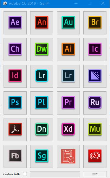 Adobe CC 2019 Win 软件破解补丁工具 GenP v1.5.5.3